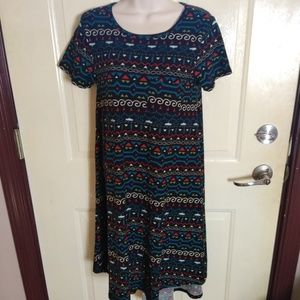 Lularoe Black Aztec Print Carly Dress